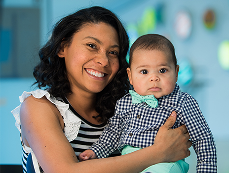 IVF patient Dayane Parker and her son.