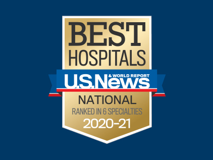 Six specialties 2020 U.S. News badge.