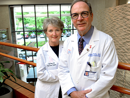 Carol Fabian, MD, and Charles Porter, MD