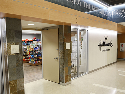 Hallmark Gold Crown store in the main hospital.