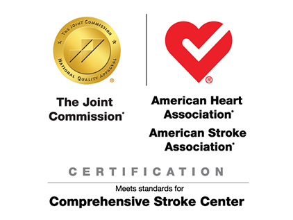 Certification from the Joint Commission for being a Comprehensive Stroke Center.