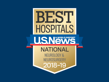 U.S. News and World Report ranking badge for Neurology and Neurosurgery