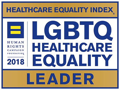 2018 LGBTQ Healthcare Equality Leader logo.